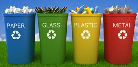 different types of bin used by our team