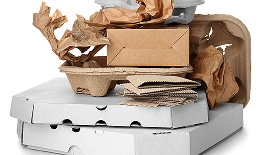 card board and paper waste collected