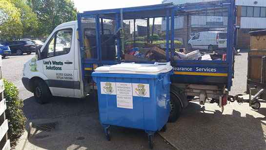 waste collecting from the bin