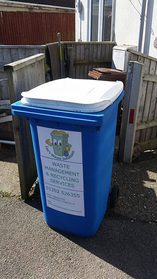 waste collection bin in wimborne