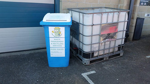 waste collection bin in poole