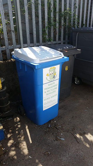 waste collection bin in bournemouth